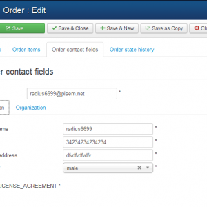 Pic 4. Edit order - contact fields