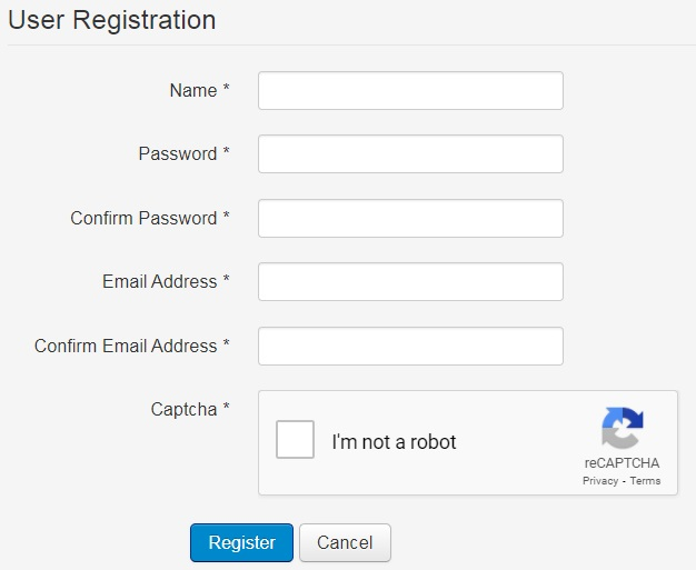 IPrice simple secure registration form