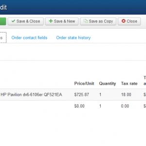 Pic 3. Edit order - order items