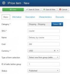 Pic 3. Shipping item - Basic